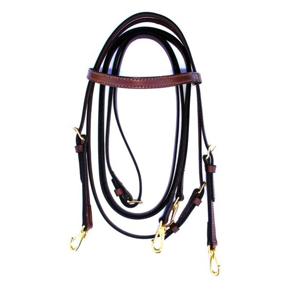 T7-10 Training Bridle with Reins _ Snaps