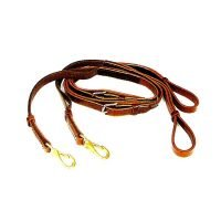 T7-11 Leather Side Reins with Elastic