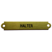 halter-name-plate
